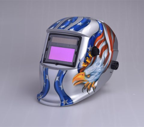 Solar Auto Darkening Welding Helmet 9-13 Lens Shade USA Flag Eagle Design